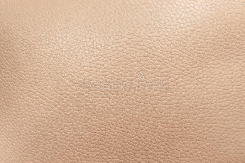 Struttura di cuoio genuino beige come fondo fotografie stock libere da diritti