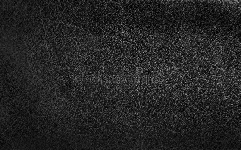 Struttura di cuoio nera fotografie stock