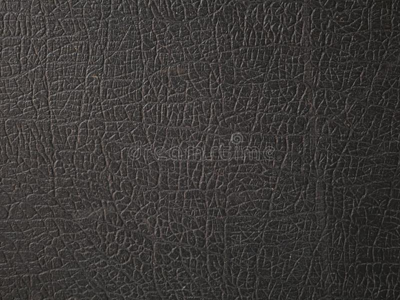 Struttura di cuoio nera Grigio, luce immagine stock