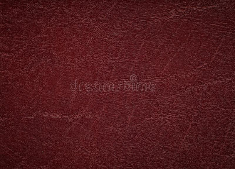 Struttura di cuoio rossa fotografie stock libere da diritti