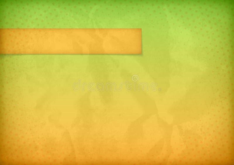 Struttura di documento sgualcito con la bandiera orizzontale illustrazione di stock