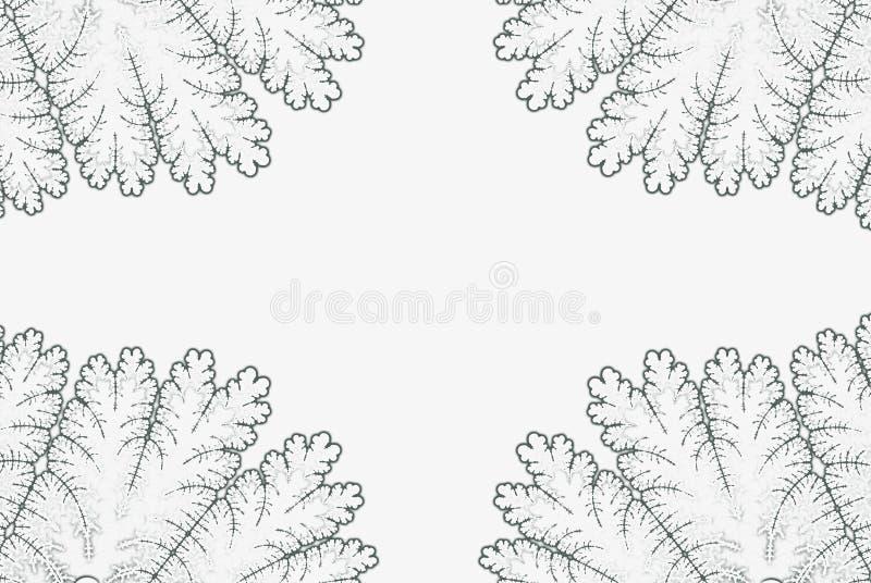 Struttura di frattale Manifesto astratto d'annata monocromatico royalty illustrazione gratis