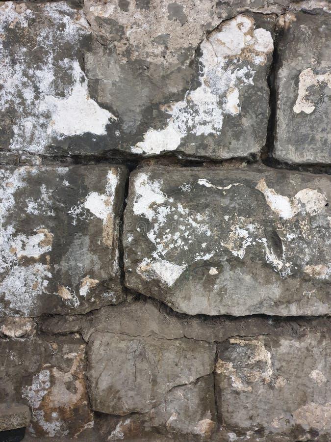 Struttura di grandi vecchi mattoni grigi immagini stock