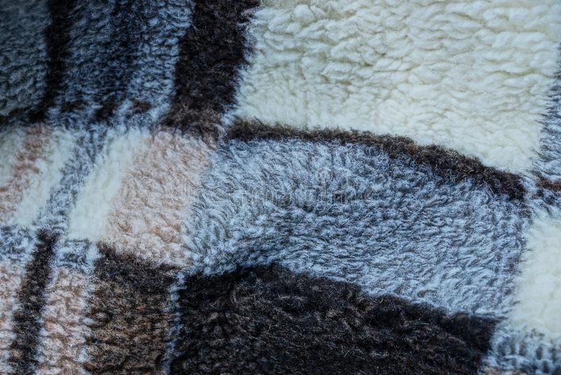 Struttura di lana di un plaid marrone grigio fotografie stock libere da diritti