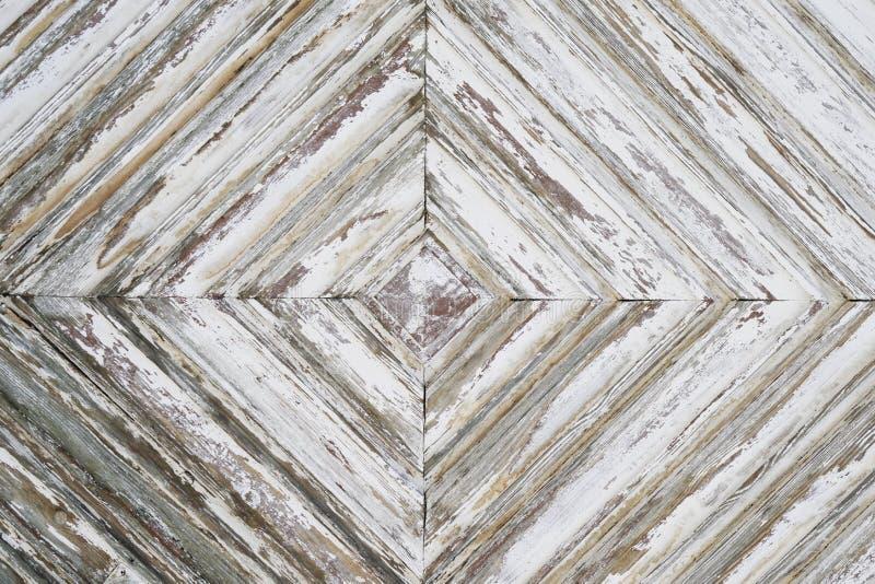 Struttura di legno afflitta del fondo con pittura bianca fotografia stock libera da diritti