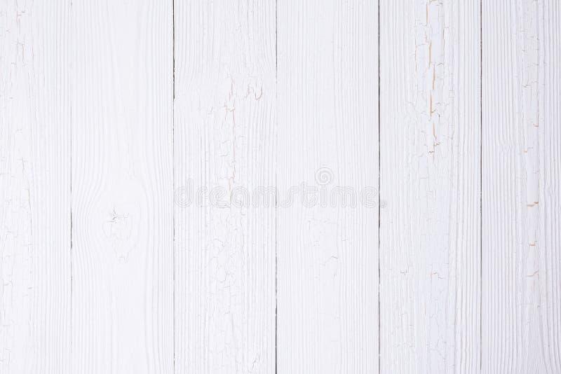 Struttura di legno bianca con il modello a strisce naturale per fondo, fotografie stock libere da diritti