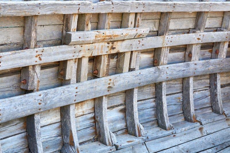 Struttura di legno bianca d'annata con i modelli naturali come fondo immagine stock