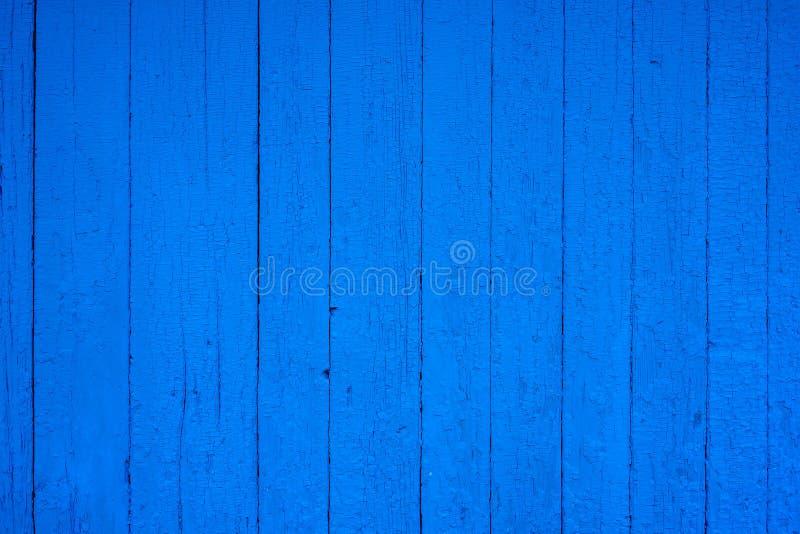 Struttura di legno blu d'annata del fondo Vecchio legno verniciato Priorit? bassa astratta blu immagine stock