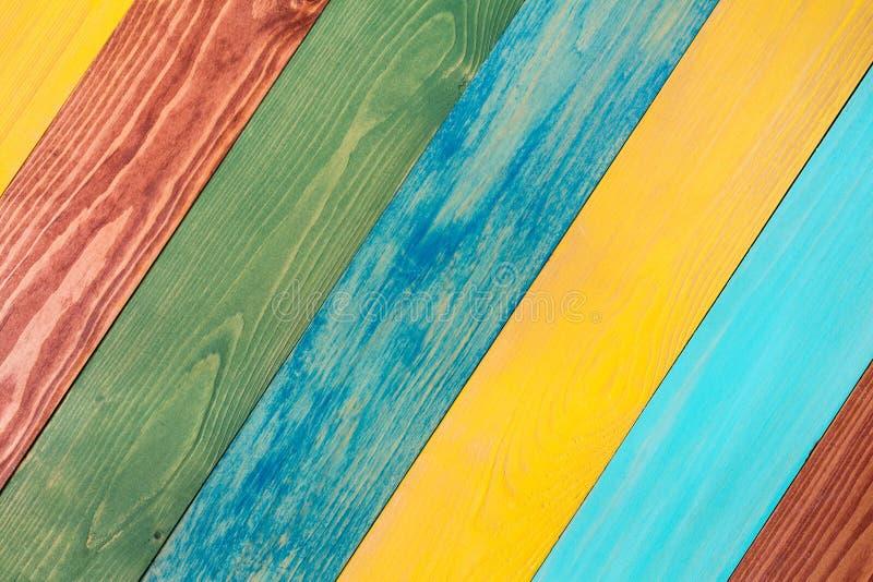Struttura di legno colorata fotografia stock libera da diritti