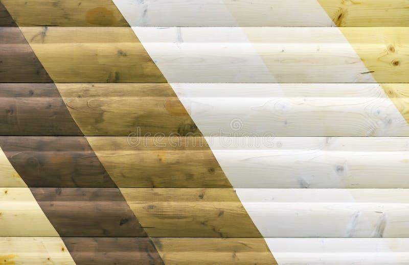 Struttura di legno con differenti tonalità fondo per progettazione e la decorazione fotografia stock