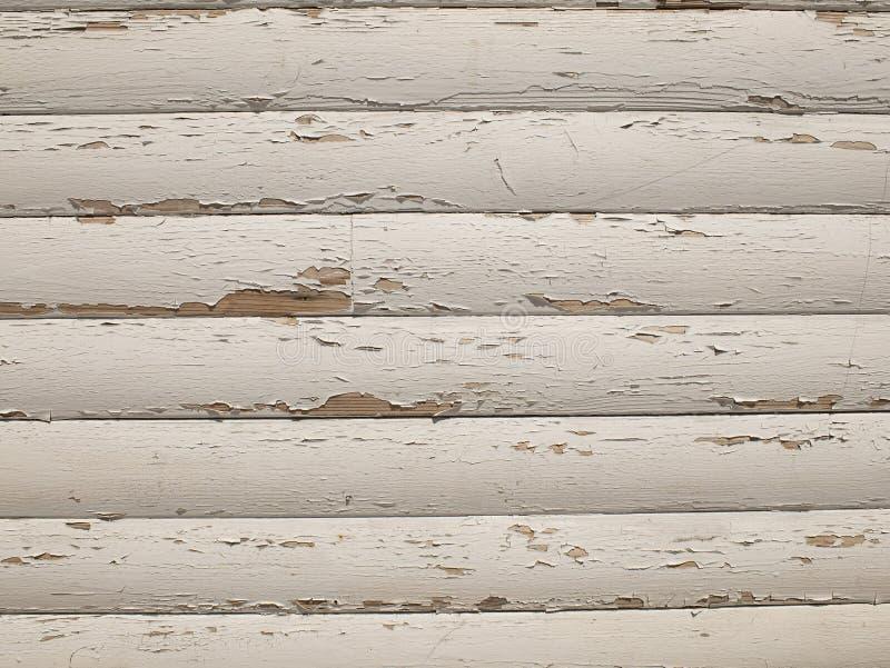 Struttura di legno con vecchia pittura bianca Bordi di legno come fondo fotografia stock