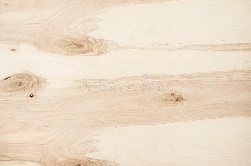 Struttura di legno d'annata del compensato beige leggero Vista superiore, bordo di legno fotografia stock