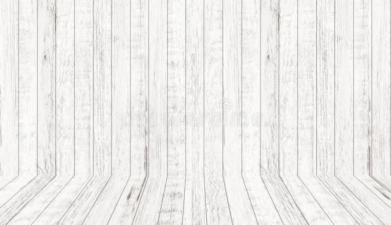Struttura di legno d'annata del modello nella vista di prospettiva Fondo di legno vuoto dello spazio della stanza immagini stock