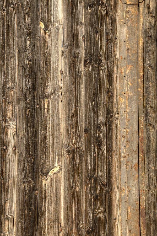 Struttura di legno del fondo del pavimento del vecchio granaio fotografie stock libere da diritti