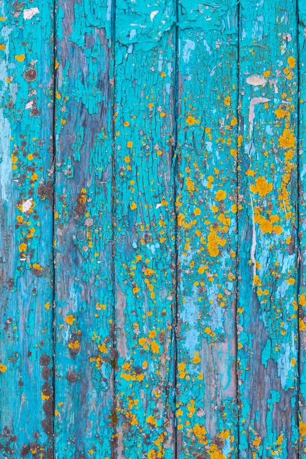 Struttura di legno del fondo dipinta blu fotografie stock libere da diritti