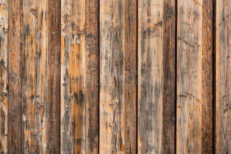 Struttura di legno della priorità bassa Recinto di legno di Brown da un pallet Fine in su immagini stock