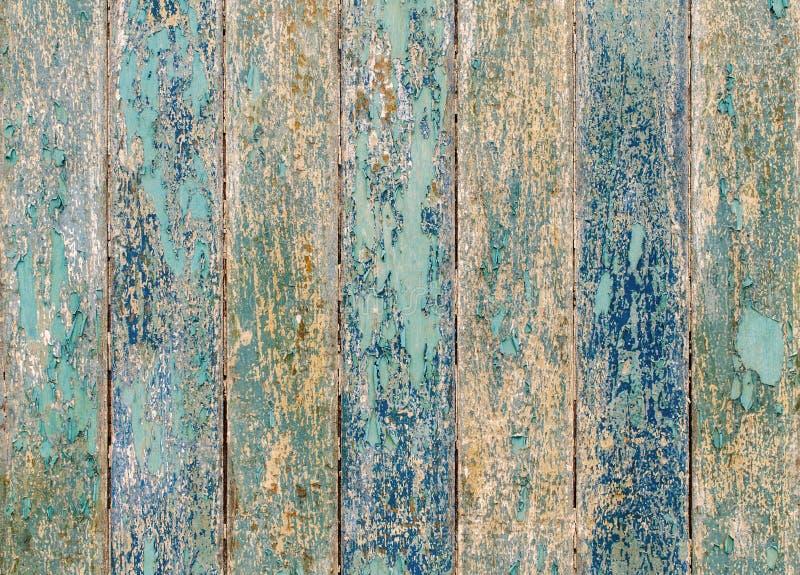 struttura di legno delle plance con la pittura incrinata di colore per fondo fotografia stock libera da diritti