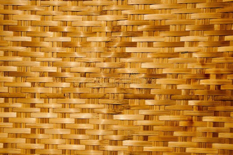 Struttura di legno di bambù, lavoro manuale tailandese immagine stock