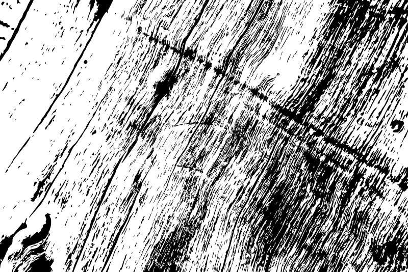 Struttura di legno Grungy Struttura in bianco e nero del legname ruvido Superficie stagionata del legno duro illustrazione di stock