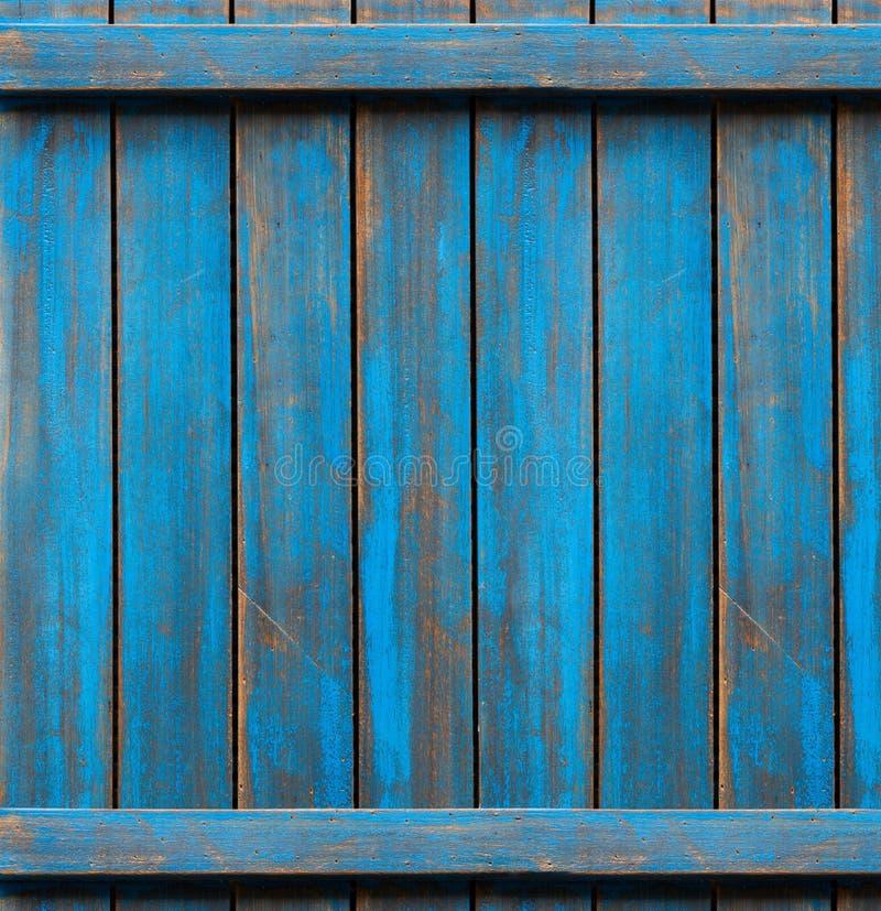 Struttura di legno lavata blu vecchi comitati del fondo fotografia stock libera da diritti