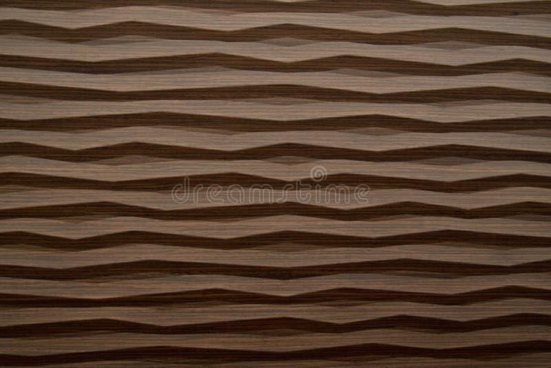 Struttura di legno moderna dell'onda fotografia stock