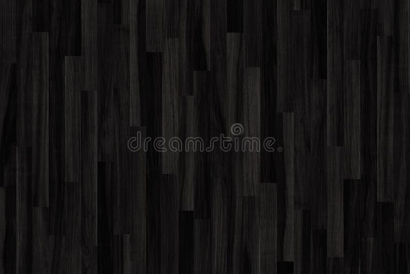 Struttura di legno nera del parquet vecchi comitati del fondo immagini stock libere da diritti