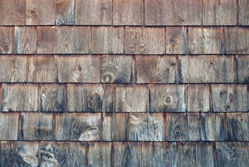 Struttura di legno rustica del modello del backgroung delle assicelle delle plance del cedro immagini stock