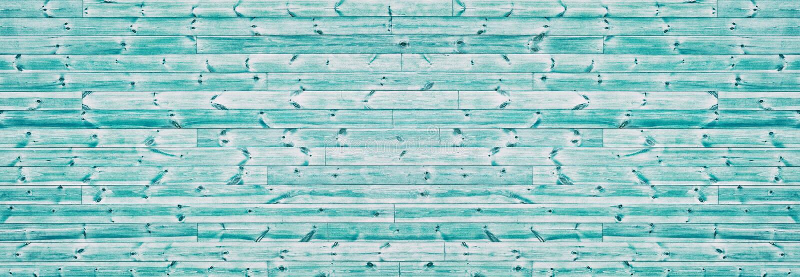 Struttura di legno spinosa di colore di Teal ampia Panorama orizzontale del bordo di legno Fondo d'annata panoramico fotografia stock libera da diritti