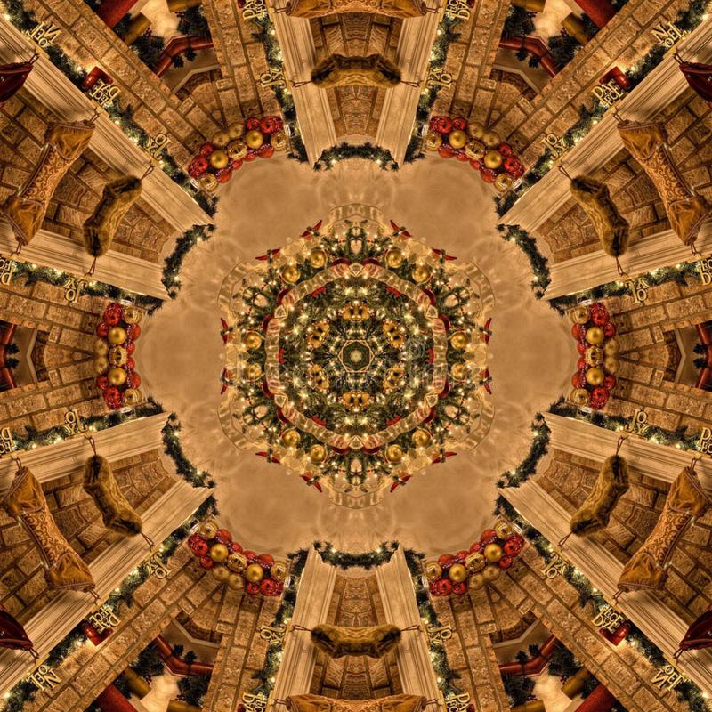 Struttura di Mandala Kaleidoscope dell'estratto di Brown fotografie stock