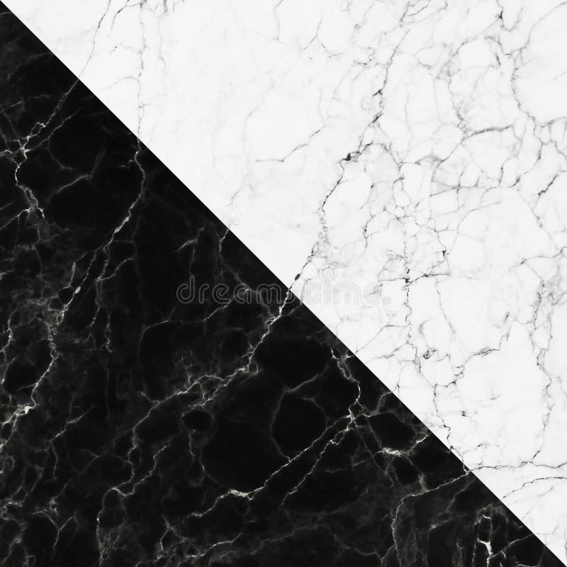 Struttura di marmo bianca e nera con il modello naturale per fondo fotografia stock libera da diritti