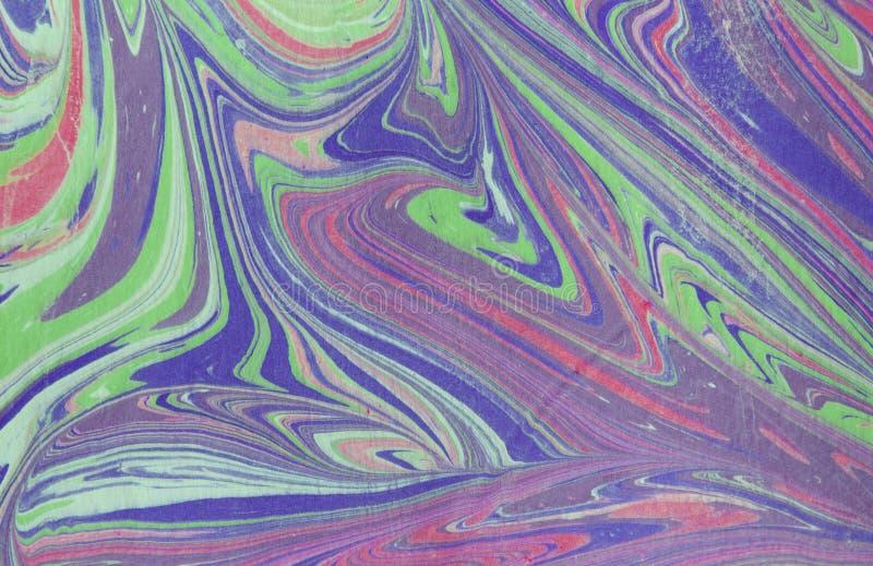 Struttura di marmo dell'inchiostro Fondo fatto a mano dell'onda di Ebru Superficie della carta kraft Illustrazione unica di arte  fotografie stock