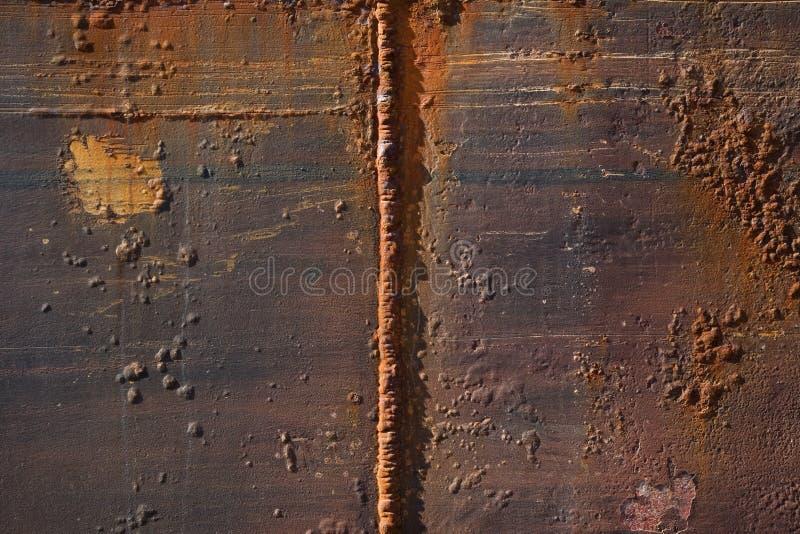 Struttura di metallo arrugginito fotografie stock libere da diritti