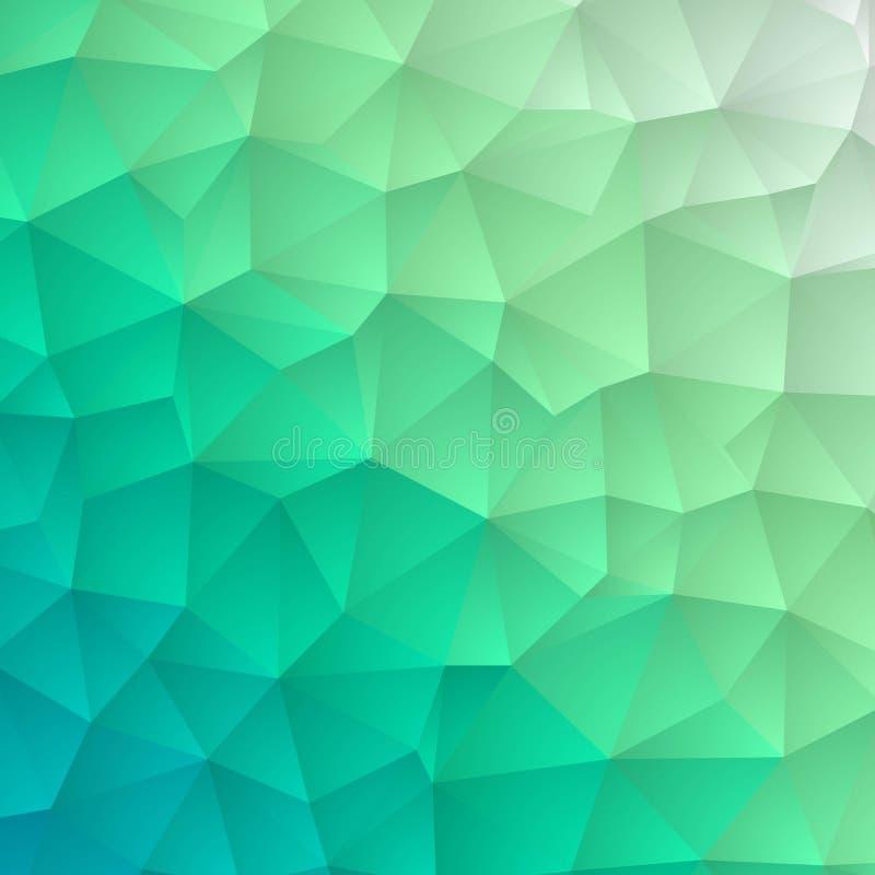 Struttura di mosaico blu-chiaro di esagono di vettore Illustrazione astratta variopinta con la pendenza Stile nuovissimo per la v illustrazione di stock