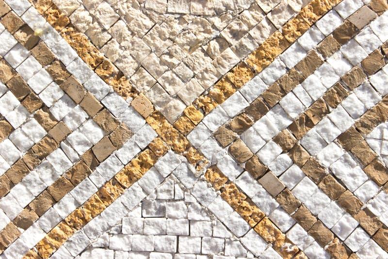 Struttura di mosaico di pietra di marmo fotografie stock