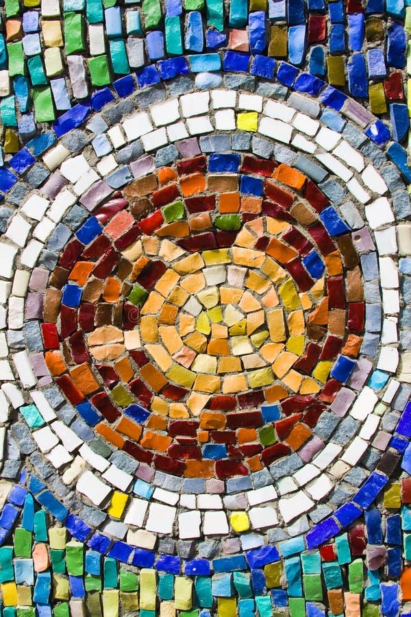 Struttura di mosaico variopinta della tartaruga sulla parete fotografie stock libere da diritti