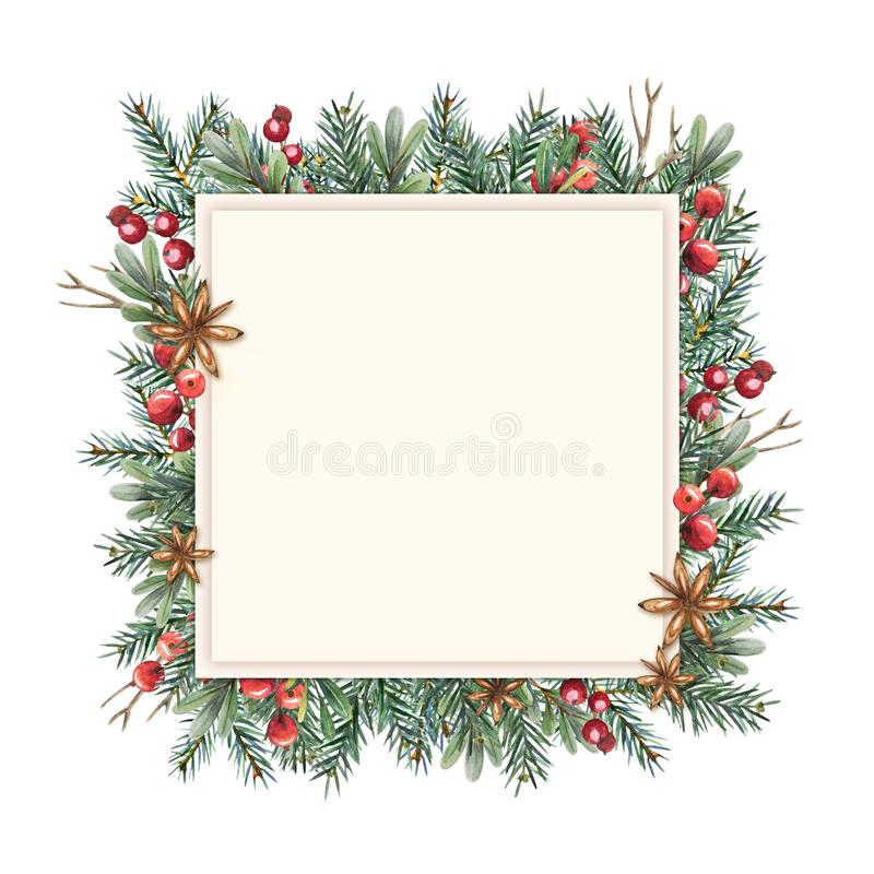 Struttura di Natale dell'acquerello illustrazione di stock