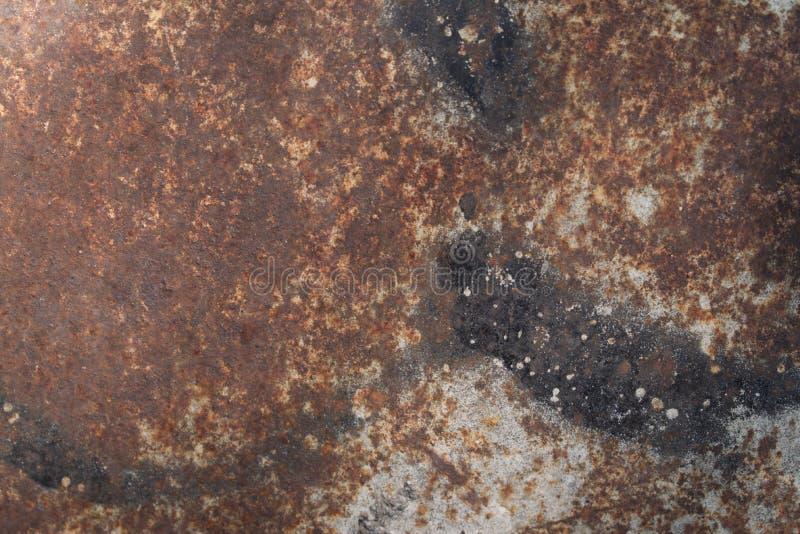 Struttura di di piastra metallica arrugginito fotografie stock libere da diritti