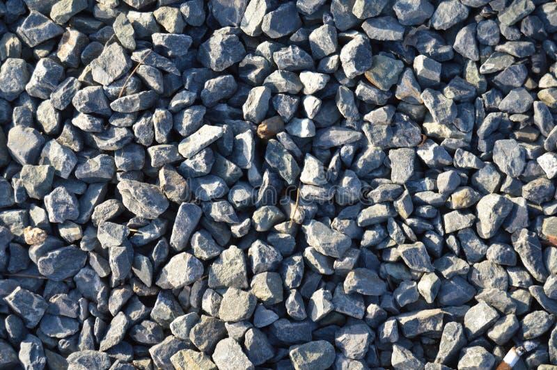 Struttura di pietra dei grandi e piccoli ciottoli blu fotografia stock libera da diritti