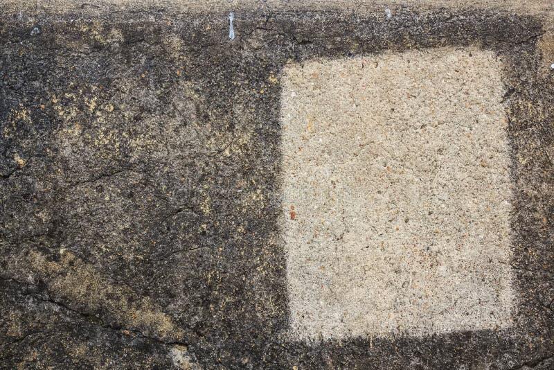 Struttura di pietra grigia del primo piano con la traccia del quadrato bianco fotografia stock libera da diritti