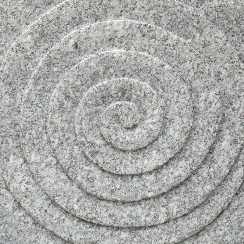 Struttura di pietra a spirale del cerchio fotografie stock libere da diritti