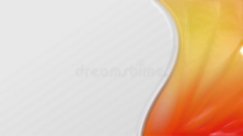 Struttura di plastica arancione illustrazione vettoriale