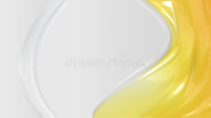 Struttura di plastica gialla illustrazione vettoriale