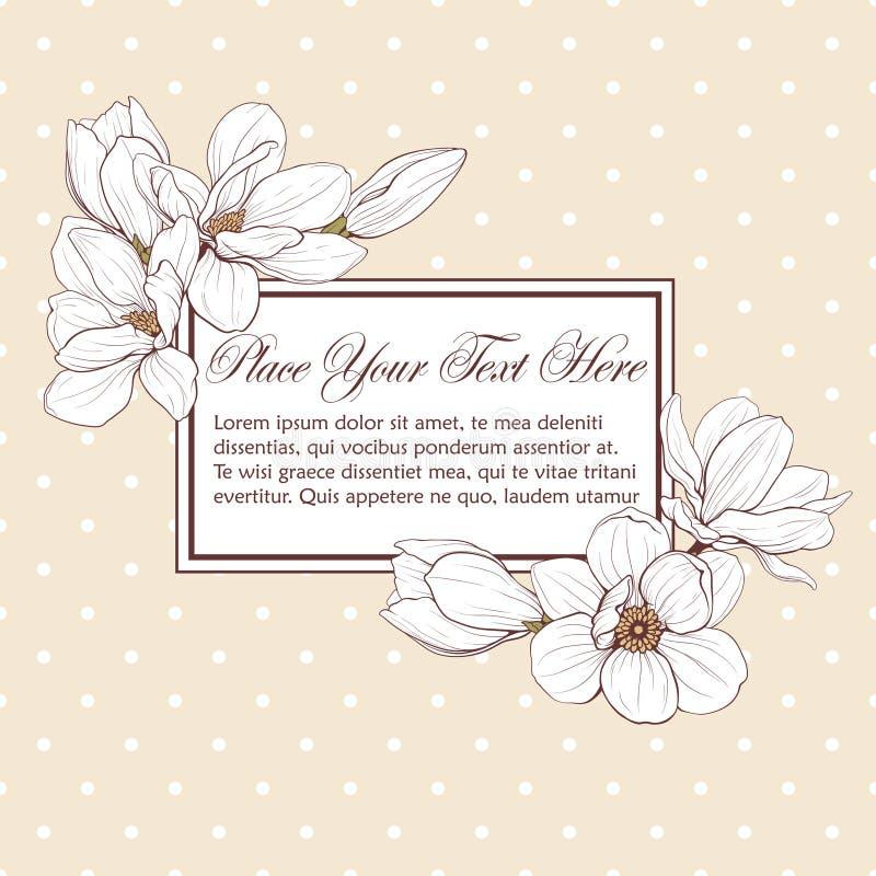 Struttura di rettangolo del cartellino giallo della magnolia fotografia stock libera da diritti
