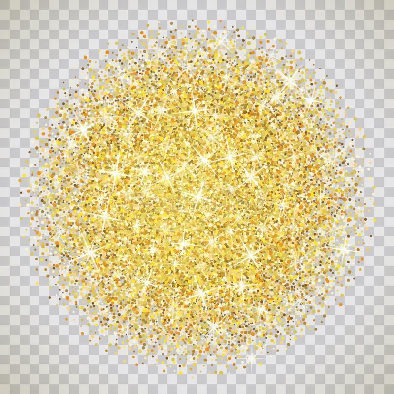 Struttura di scintillio dell'oro con le scintille royalty illustrazione gratis