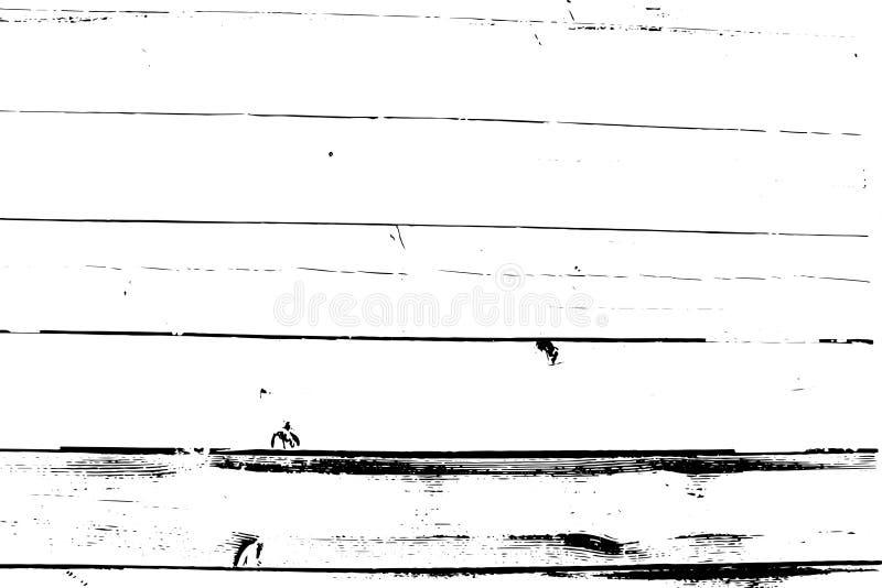 Struttura di semitono afflitta di vettore di lerciume - vecchio fondo di legno del graffio Illustrazione in bianco e nero di vett fotografia stock libera da diritti