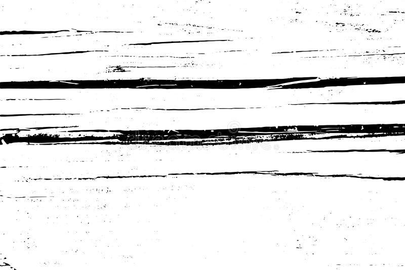 Struttura di semitono afflitta di vettore di lerciume - vecchio fondo di legno del graffio Illustrazione in bianco e nero di vett immagini stock libere da diritti
