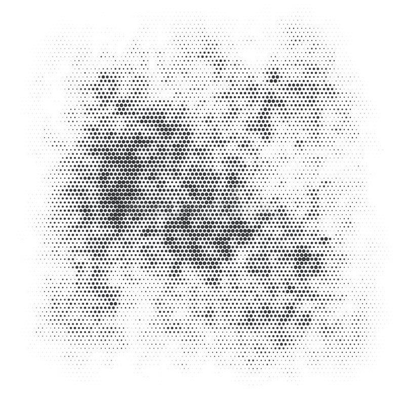 Struttura di semitono in bianco e nero di lerciume illustrazione vettoriale