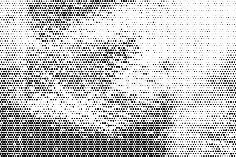 Struttura di semitono monocromatica di lerciume dell'estratto del fondo illustrazione di stock