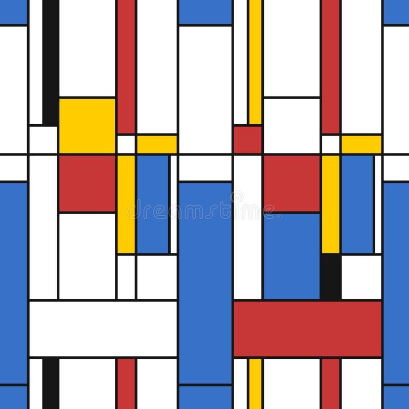 Struttura di stile di Mondrian illustrazione di stock