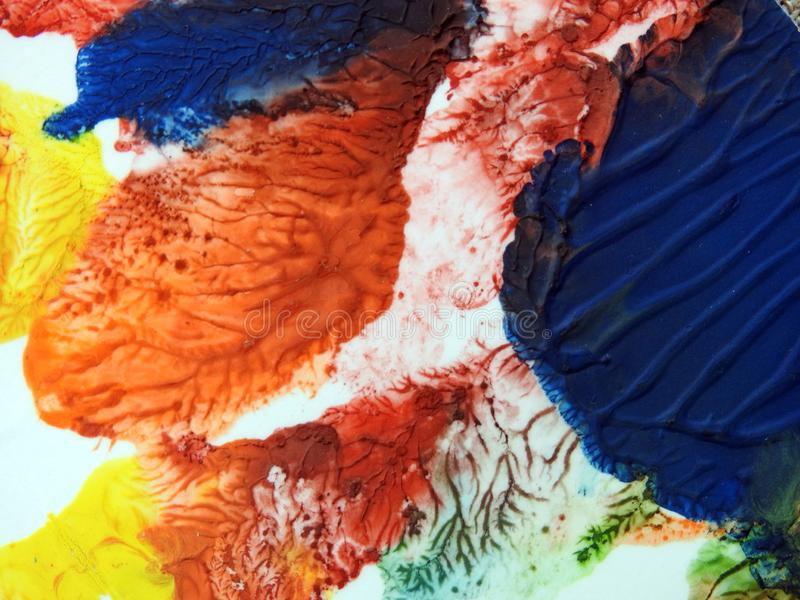Struttura di superficie di carta dipinta variopinta immagine stock